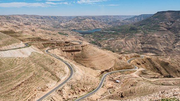 Jordan, Royal Road, Höhenweg, Trade Route, Mountains