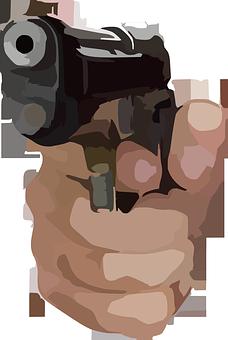 Handgun, Gun, Shoot, Weapon, Pistol, Aiming, Aim, Hand