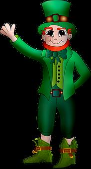 Leprechaun, St Patrick's Day, Irish, Pipe, Lips