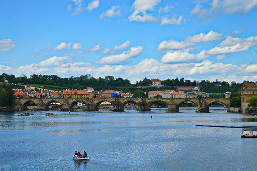 River, Vltava River, Vltava, Prague, City, Bridge