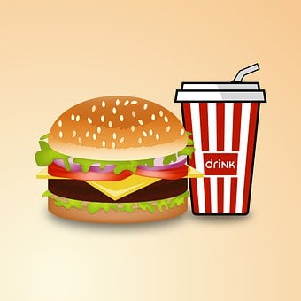 Burger, Drink, Menu, Food, Hamburger, Meal, Restaurant