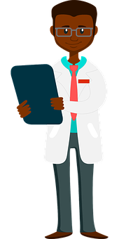 African, Boy, Cartoon, Chart, Checkup