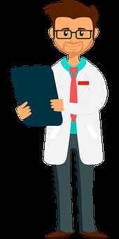 Boy, Cartoon, Chart, Checkup, Clinic