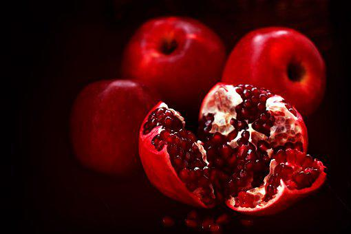 Pomegranate, Fruits, Sweet, Delicious, Red, Apples