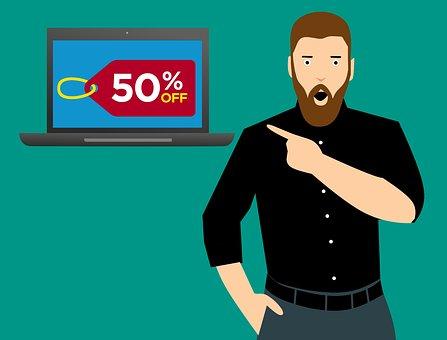Shopping, Discount, Offer, Online, Men, Finger