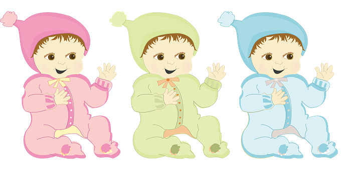 Happy, Baby, Onesie, Pink, Green, Blue