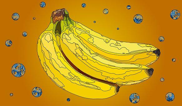 Banana, Yellow, Fruit, Food, Bananas, Healthy, Fresh