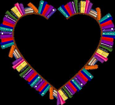 Bookshelves, Frame, Heart, Love, Passion, Valentines