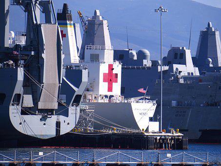 Us Naval Hospital Ship, Ship, Boat, Medical, Navy Ship