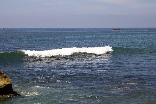 Water, Ocean, Wave, Crash, Force, Pacific, Nature