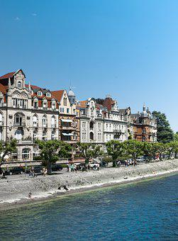 Architecture, Water, Bodensee, Photography, City