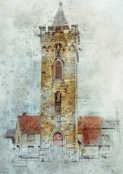 Tower, Architecture, Building, Dynamics, Image Editing