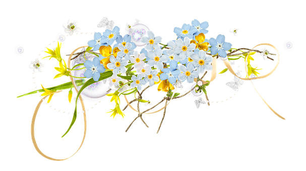 Spring, Easter, Flowers, Forget-me-not, Crocus
