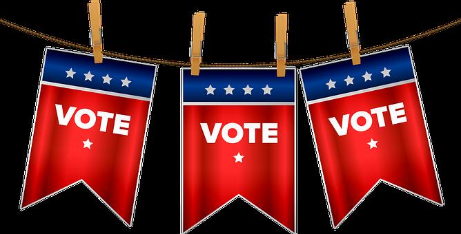 Election 2020, Vote, Bunting, Usa, Democracy, Diplomacy