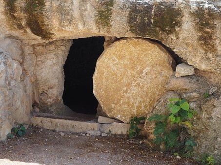 Grave, Easter, Stone, Resurrection, Jesus, Cross, Faith