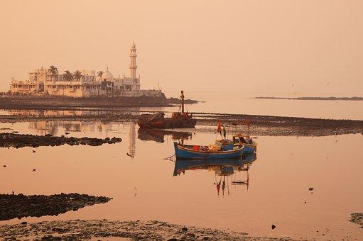 Dargah, Travel, Mumbai, Ship, Sea, India, Tourism