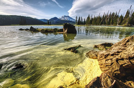 Sparks Lake, Oregon, Pacific Northwest, Mountain