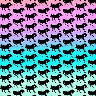 Unicorn Digital Paper, Rainbow Ombre, Unicorn
