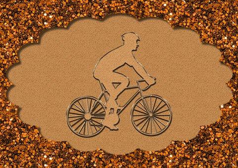 Bicyclist, Bicyclist Illustration, Bicyclist Drawing