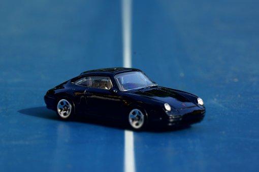 Porsche, Carrera, Black, Toy Car, Classic