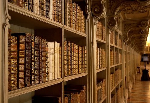 Portugal, Mafra, Palacio Nacional De Mafra, Books