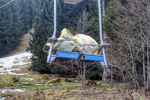 Yellow Sack, Disposal, Lift, Plastic Waste, Garbage