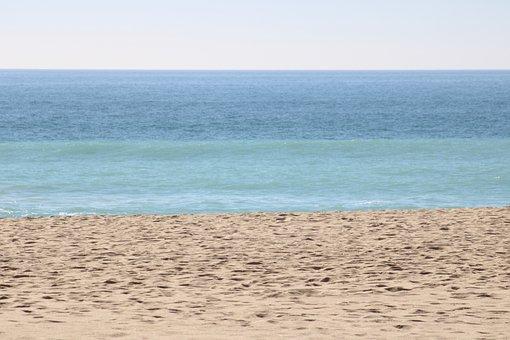 Layers, Water, Ocean, Landscape, Sky, Beach, Travel