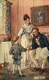 Vintage, Family, Antique, Father, Mother, Boy, Child