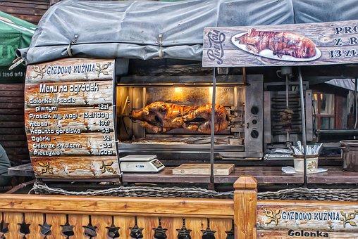 Piglet, Street Food, Menu, Roasted Pork, Pork Knuckle