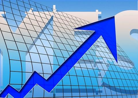 Arrows, Success, Ascending, Profit, Grid, Economy