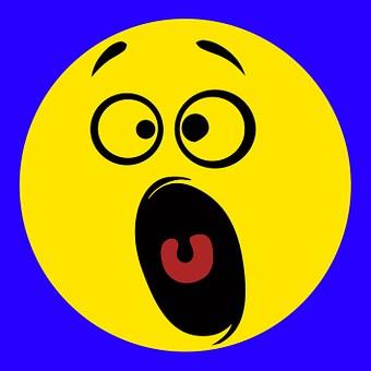 Smiley, Emoticon, Horrified, Amazed, Funny