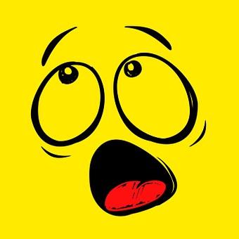 Smiley, Emoticon, Funny, Horrified