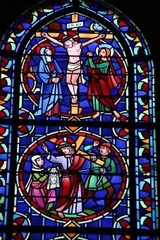 Crucifixion, Jesus, Window, Glass, Cross, Easter
