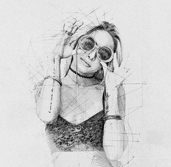 Sketch, Hand Drawn, Art, Artistic, Effect, Shadow