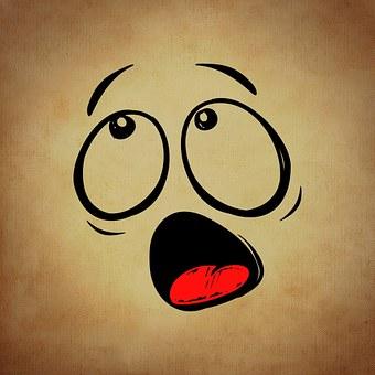 Smiley, Emoticon, Horrified, Funny