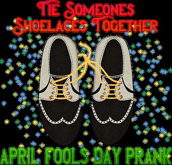 April Fools Day, Joke, Prank, Tie Shoes Together, Shoes