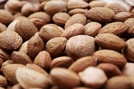Almonds, Food, Nuts, Healthy, Snack, Dessert, Diet