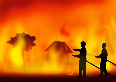 Fire, Bush Fire, Firemen, Firefighters, Heroes, Save