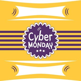 Cyber Monday, Striped Newscard, Event Poster