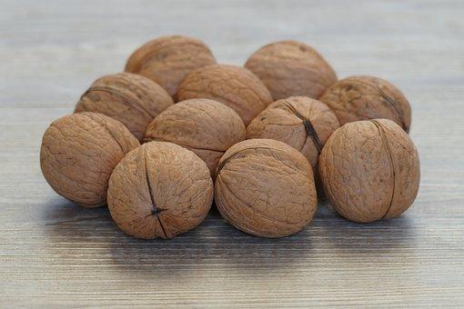 Walnuts In Shell, Variety Milota 10, Nuts, Ripe