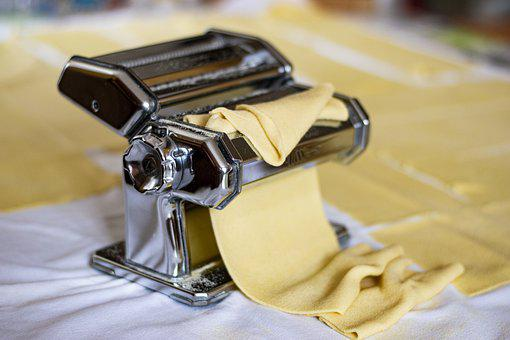 Pasta, Fresh Pasta, Machine, Food, Flour