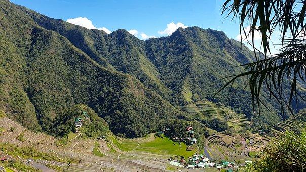 Rice, Terraces, Philippines, Banaue, Mountains