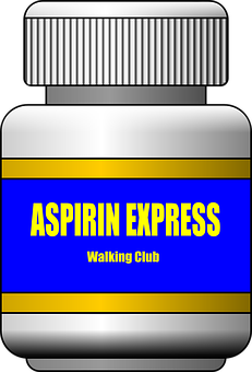 Aspirin Express, Walking Club, Bottle, Pills, Closed