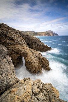 Ginger, Coast, Cliff, Rock, Rocky Coast, Mediterranean