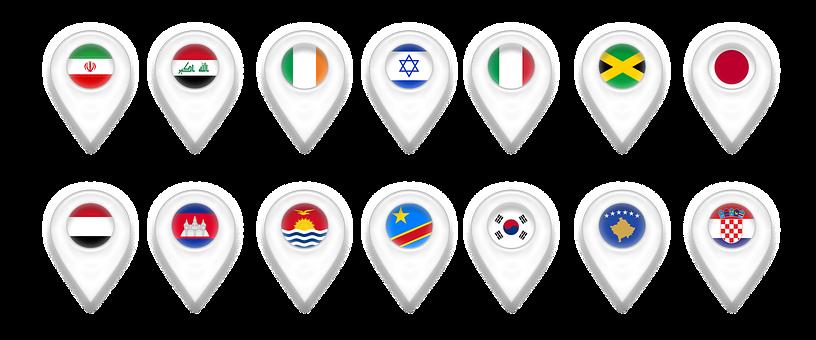 Map, Maps, Geolocation, Pin, Iran, Iraq, Ireland