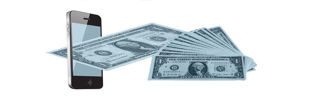 Mobile Phone, Dollar, Money, Finance
