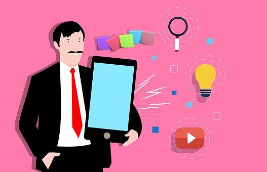 Cellphone, Phone, User, Man, Screen, Apps, Concept