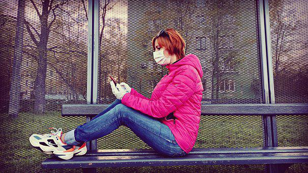 Doctor Mask, Virus, Safe Woman, Woman With Phone