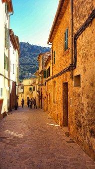 Street, Mallorca, Sunset, Holiday, Travel, City
