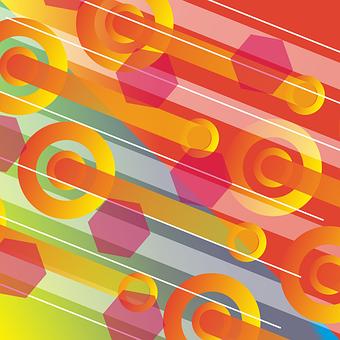 Orange, Lines, Pattern, Design, Modern